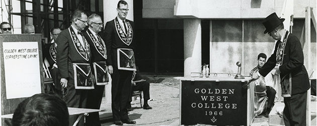 Just prior to the first day of instruction at GWC , the college laid a cornerstone at the base of the flagpole near the admissions building. A number of items […]