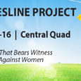 GWC will be hosting The Clothesline Project, a visual display that bears witness to the violence against women, next week in the Central Quad. During our public display, a clothesline […]