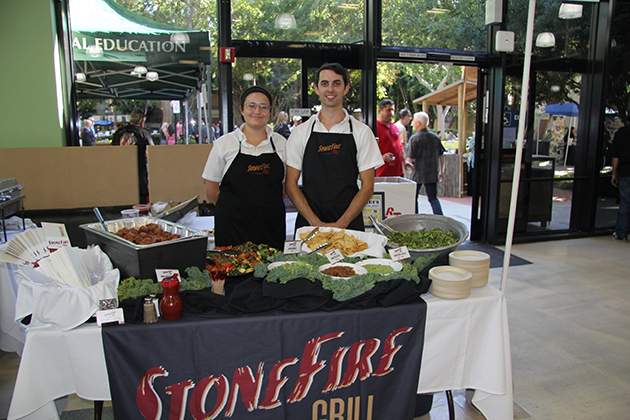 Stonefire Grill table and servers