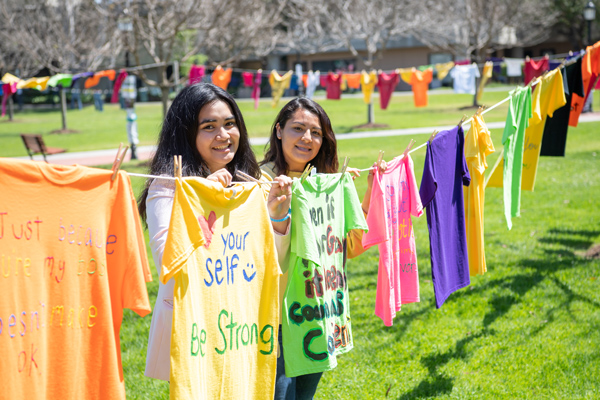 Clothesline Project at GWC