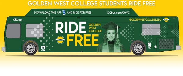 Transportation and education officials gathered on the campus of Golden West College on Wednesday to mark the expansion of the Orange County Transportation Authority's student bus pass program, allowing enrolled students to travel free on any OC Bus.